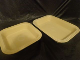 Fiesta Ware Yellow 9x13 and 8 inch Square Baking Dishes