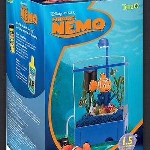 Tetra Disney Finding Nemo Aquarium Kit 1 5 Gallons Used