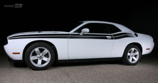 2011 Up Dodge Challenger Side Stripe Decal Kit 2012 2013 Strobe Hemi R T SRT