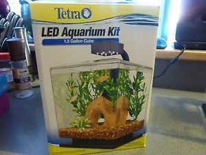 Tetra LED Aquarium Kit 1 5 Gallon Cube for Table Top Office or Bedroom