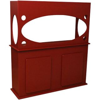Window View Red 75 Gallon Aquarium Stand