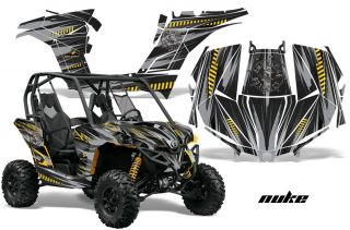 Canam BRP Maverick Graphic Kit Wrap AMR Can Am Decal Parts AMR Accessories Nuke