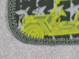 Crib Nap Toddler Fleece Blanket Army Trucks and Tanks and Stars