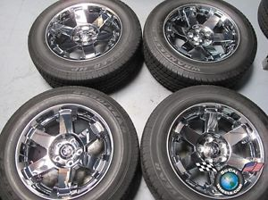 02 11 Dodge RAM 1500 Factory 20 Chrome Clad Wheels Tires Rims 2387 Durango