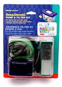 Penn Plax Smallworld Air Pump Aquarium Filter Kit SWK1UL