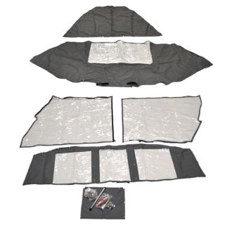 Tracker Marine Pro Guide V16 Gray 6 Piece Boat aft Curtain Enclosure Cover Kit