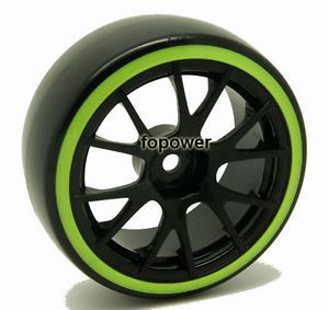 4pcs RC Drift Plastic Hard Tires Tyre Wheel Rim Fit 1 10 on Road Car 9060 5004