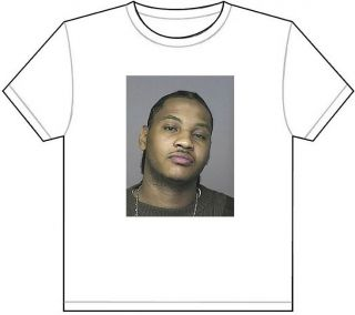 Carmelo Anthony Mug Shot T Shirt Tee Picture Photo MUGSHOT Knicks Nuggets NY 308