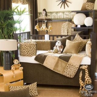 Baby Boy Girl Neutral Animal Cheetah Print Themed Crib Nursery Quilt Bedding Set
