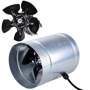 "6"" Inline Duct Fan 260CFM Booster Exhaust Blower Aluminum Blade Air Cooling Vent"