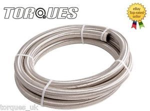 An 10 AN10 Stainless Braided Fuel Oil Line Hose 1 2M