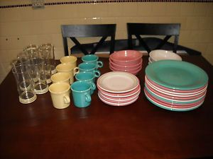 Lot of 41 Fiesta Ware Glasses Homer Laughlin China Co Genuine Fiesta USA