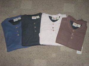 10 000 ft Above Sea Level Men's Henley Long Sleeve Shirt Cohoice Size Color