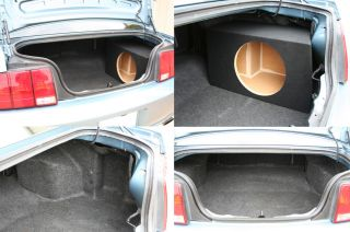 "05 06 07 08 09 10 11 12 13 Ford Mustang Single 10"" Speaker Sub Box Subwoofer New"
