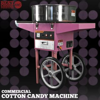 Electric Commercial Cotton Candy Machine Cart Kit 1000W Floss Maker Store Booth