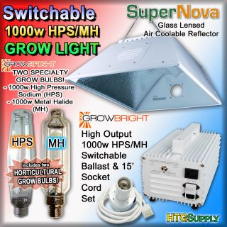 1000 Watt HPS MH Grow Light System Hood Ballast 1000W