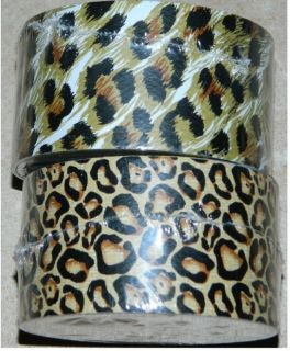 2 Lot Roll Cheetah Leopard Print Pattern Printed Duct Duck Tape 10ft