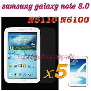 5pcs Front LCD Screen Protector Film for Samsung Galaxy Note 8 0 inch Tablet New