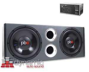 "Powerbass® PS WB12 Loaded Subwoofers Enclosure w Dual 12"" Subs in Vented Box New 823871002467"