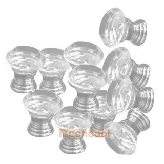 10 Pcs 30mm Diamond Shape Crystal Glass Cabinet Knob Cupboard Drawer Pull Handle
