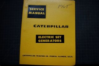Cat Caterpillar Electric Set Generators Service Manual 1965 Shop Book Repair