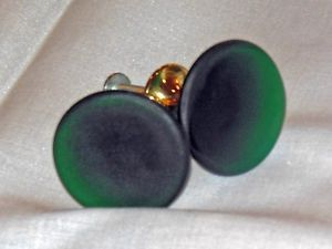 Emerald Green Satin Glass Cabinet Drawer Knobs Brass Pulls New
