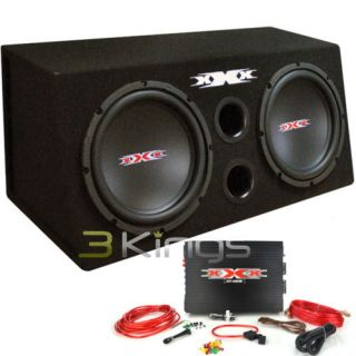 "New XXX XBX1200B 12"" 1200W Car Subwoofers Subs Amplifier Amp Kit Sub Box Package"
