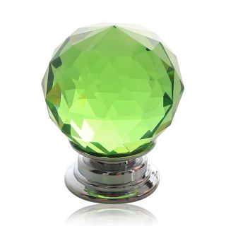 8x 30mm Crystal Glass Door Knobs Drawer Kitchen Cabinet Pull Handle Green US