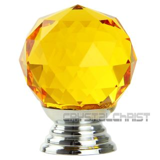 High Quality 30mm Round Crystal Handle Glass Knobs Cabinet Drawer Door Handles