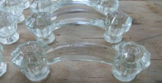 12 Vtg Antique Glass Furniture Drawer Pulls Bridge Handles Dresser Cabinet