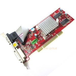 New ATI Radeon 9250 128 MB DDR 64 Bit PCI Video Graphics Card VGA DVI s Video