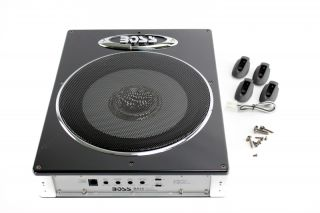 "Boss BASS1200 10"" 1200W Low Profile Amplified Car Subwoofer 8 Gauge GA Amp Kit"