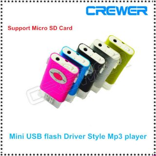 New Mini USB Flash Drvier Style Clip  MP4 Player Support 128MB 32GB Memory