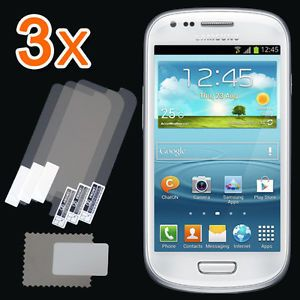 New 3X Clear LCD Screen Protector Guard Cover Samsung Galaxy S3 s III Mini I8190