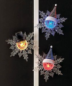 Sets of 3 Color Changing Snowflakes LED Light Christmas Gift Decor Ornaments New