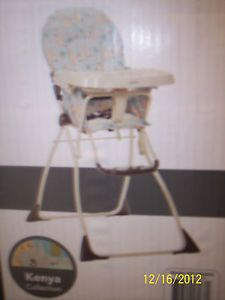 BNIB Cosco Kenya Collection Slim Fold High Chair HC185AKS