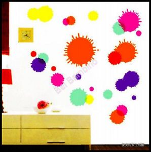 Paint Splash Removable Wall Stickers Home Decor Modern Art Fun Kids Room