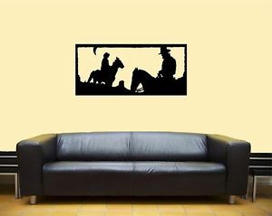 Western Cowboy Rodeo Horse Wall Art Home Decor Mural Vinyl Decal