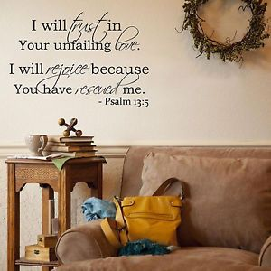 "Home Décor Scripture Wall Art ""Psalm 13 5"" Bible Verse"