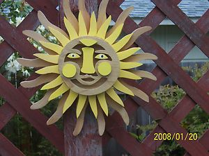 Sun Burst Wall Hanging Wood Yard Art Home Decor