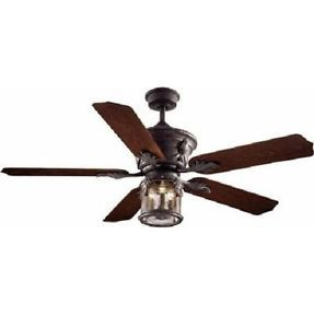 Hampton Bay Milton 52 in Ceiling Fan Without Remote Control Oxide Bronze