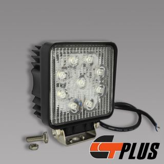 27W Square LED Working Light Lamp ATV SUV Off Road Jeep Camping Boat Truck Yacht