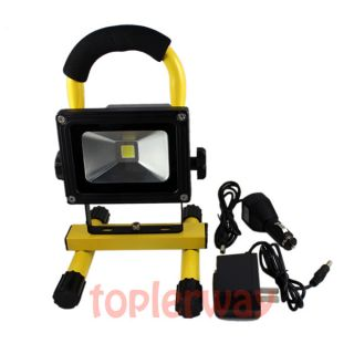 10W Portable 4400mA Rechargeable LED Flood Light Lamp Camping Fishing Yellow