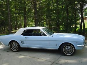 1966 Ford Mustang Convertible 289 Light Blue Nice Drive Her Home