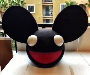 Black Sound Activated Lighting Mouse Mask Home Made Deadmau5 Head Replica