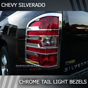 2007 2013 Chevy Silverado Chrome Tail Light Bezels