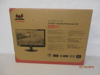 "Viewsonic VA1938WA LED 19"" Widescreen LED LCD Monitor 766907532326"