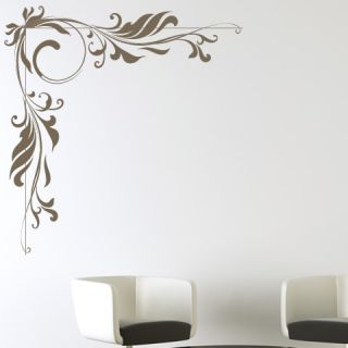 Embellishment Corner Floral Decorative Wall Stickers Wall Art Decal Transfers