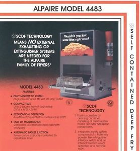 Alpaire Ventless Hoodless 110V Commercial Restaurant Kitchen Deep Fryer 2 Basket