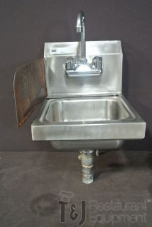 "Wall Mount Hand Sink Space Saver 12"" Commercial Kitchen Used"